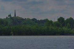 Città di Tulcea ed il Danubio immagini stock libere da diritti