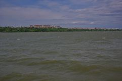 Città di Tulcea ed il Danubio 5 fotografie stock libere da diritti