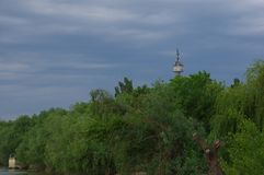 Città di Tulcea ed il Danubio 6 fotografia stock