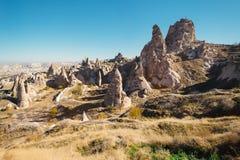 Città di Uchisar in Cappadocia La Turchia Immagini Stock Libere da Diritti