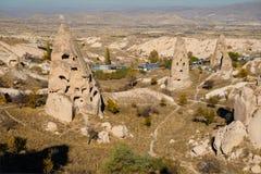 Città di Uchisar in Cappadocia La Turchia Immagine Stock
