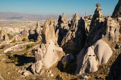 Città di Uchisar in Cappadocia La Turchia Immagine Stock Libera da Diritti