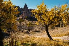 Città di Uchisar in Cappadocia La Turchia Fotografia Stock Libera da Diritti