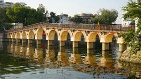 Città di Udaipur, vecchio ponte, Ragiastan, India immagine stock libera da diritti