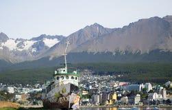 Città di Ushuaia immagine stock