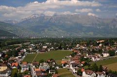 Città di Vaduz - vista da sopra Immagini Stock