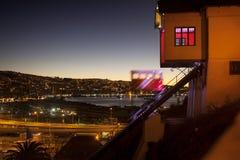 Città di Valparaiso, Cile Immagini Stock