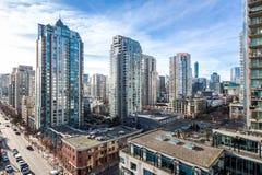 Città di Vancouver canada Siluetta dell'uomo Cowering di affari Fotografia Stock