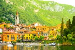 Città di Varenna nel lago di como dell'Italia Immagini Stock Libere da Diritti