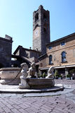 Città di vecchia città di Bergamo Fotografie Stock