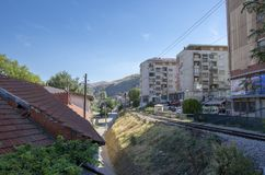 Città di Veles in Macedonia fotografia stock libera da diritti