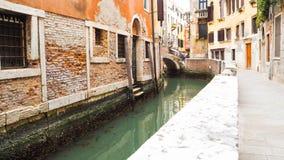 Città di Venezia con costruzione variopinta Fotografia Stock