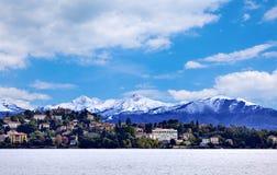 Città di Verbania sul lago Maggiore Fotografia Stock