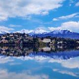 Città di Verbania sul lago Maggiore Fotografie Stock Libere da Diritti