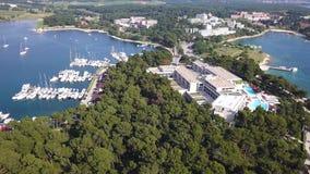 Città di verde Laguna di Porec Cratia video d archivio
