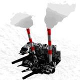città di vettore 3D illustrazione di stock