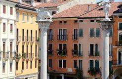 Città di Vicenza nella regione di Veneto Fotografia Stock Libera da Diritti