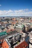 Città di Vienna da sopra Fotografia Stock