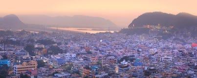 Città di Vijayawada Fotografie Stock