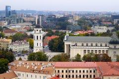 Città di Vilnius Fotografia Stock