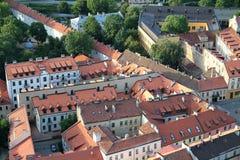 Città di Vilnius & di x28; Lithuania& x29; , vista aerea Immagine Stock