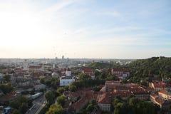 Città di Vilnius & di x28; Lithuania& x29; , vista aerea Fotografie Stock