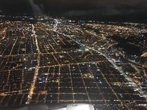 Città di vista dell'aeroplano Fotografia Stock Libera da Diritti