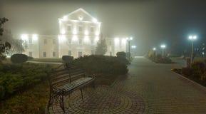 Città di vista di notte di Ternopil Fotografia Stock