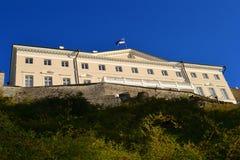 Città di vista di Tallinn vecchia L'Estonia Fotografia Stock