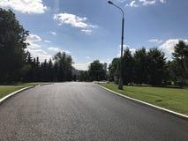 Città di vittoria del parco della strada di giorno di estate di Mosca fotografie stock libere da diritti