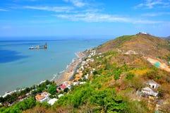 Città di Vung Tau dalla montagna immagine stock