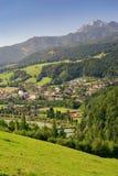 Città di Werfen, alpi di Berchtesgaden, Austria Fotografie Stock