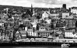 Città di Whitby in North Yorkshire fotografia stock