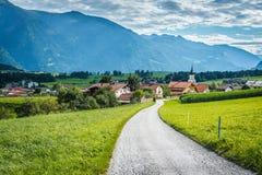 Città di Wildermieming in Austria immagine stock libera da diritti