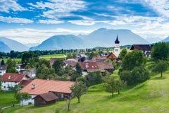 Città di Wildermieming in Austria fotografie stock