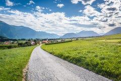 Città di Wildermieming in Austria fotografie stock libere da diritti