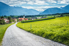 Città di Wildermieming in Austria immagini stock libere da diritti