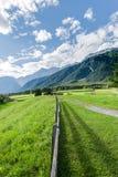 Città di Wildermieming in Austria fotografia stock