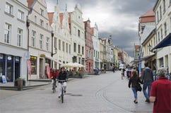 Città di Wismar Fotografia Stock