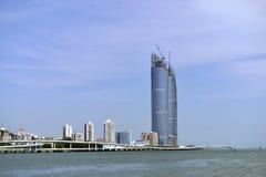 Città di Xiamen ed il porto Fotografie Stock Libere da Diritti