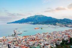 Città di Zaante, Zakinthos Grecia fotografia stock