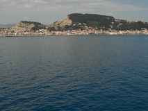 Città di Zante Isola di Zacinto La Grecia Fotografia Stock