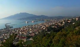 Città di Zante Isola di Zacinto La Grecia Fotografie Stock Libere da Diritti