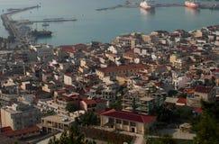 Città di Zante Isola di Zacinto La Grecia Immagini Stock