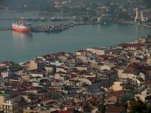 Città di Zante Isola di Zacinto La Grecia Immagine Stock