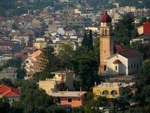 Città di Zante Isola di Zacinto La Grecia Immagini Stock Libere da Diritti