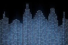 Città digitale binaria Fotografie Stock