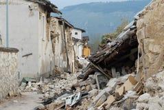 Città distrutta dall' Fotografie Stock Libere da Diritti
