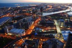 Città dopo oscurità Immagine Stock Libera da Diritti