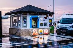 Città dopo piovosità pesante - Turchia di vacanze estive Fotografie Stock